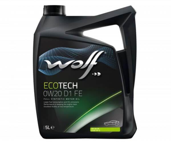 زيت محرك Wolf Ecotech 0W20 D1 FE 5L