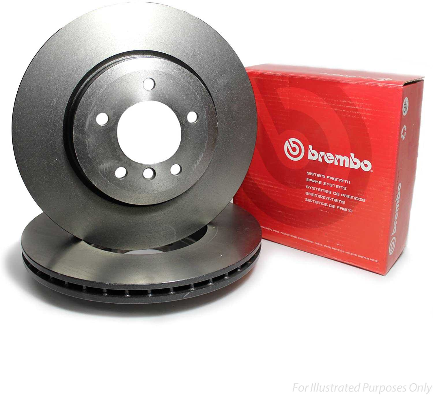Front Brake Disk Kit For Nissan Sunny n16 2001-2011 Brembo
